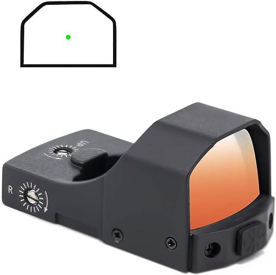 Pecawen Handgun Green Dot Sight Reflex Sight Compact Green Dot Sight with Picatinny Mount for Handgun