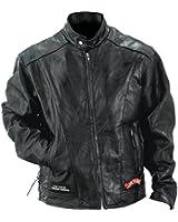 GFCRLTR Diamond PlateTM Rock Design Genuine Buffalo Leather Motorcycle Jacket