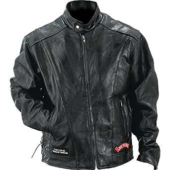 Diamond Plate Leather Motorcycle Jacket-S