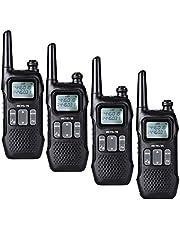 Retevis RT616 Walkie Talkie PMR446 Licenza-libero Squelch 99 Canali di Memorizzazione Walkie-Talkie FM 10 Tono di Chiamata Torcia Ricetrasmettitori con Schermo con USB (Nero, 2 paio)
