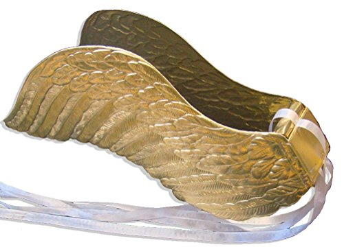 Gold Die Cut Wings (Walter Kunze Design Dresden Party Angel Wings, Large, Gold)
