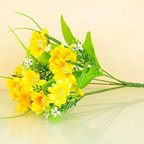 Artificial & Dried Flowers - 6 10 14 Heads Cute Silk Daisy Lily Artificial Decorative Flower Wedding Bouquet Home Room Table - Sticker Basket Book Teal Heart Arrangements Pins Flower Shirt Sle ()