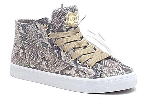 Sneaker Alta Stampa Pitone - 40 zoP9z