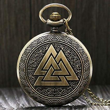 Amazon.com: Reloj de bolsillo de cuarzo de bronce de estilo ...