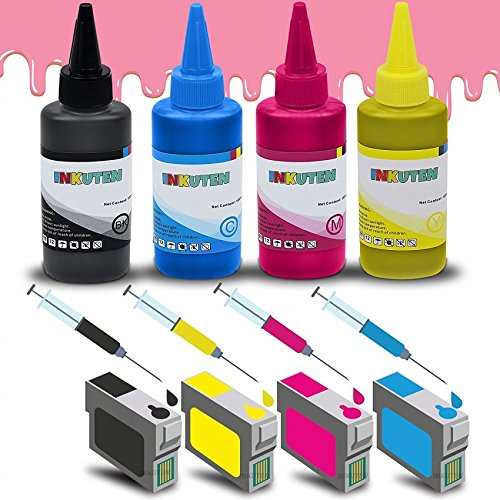 Epson Stylus Manual (4 Easy-to-refill Cartridges for #69 T069 Stylus CX5000 CX6000 CX9475Fax N11 NX100 NX300 NX305 NX400 NX515 with 4x100ml Premium Edible ink (for Cake printing only))