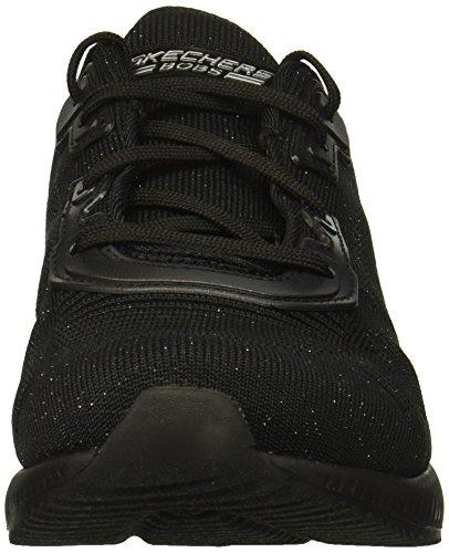 Squad Chaussures Glam Silver de Bobs Skechers Black Fitness Total Femme wqIvn5