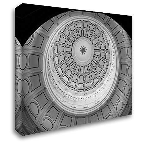 The Texas Capitol Dome, Austin Texas - Black and White 50x40 Extra Large Gallery Wrapped Stretched Canvas Art by Highsmith, Carol