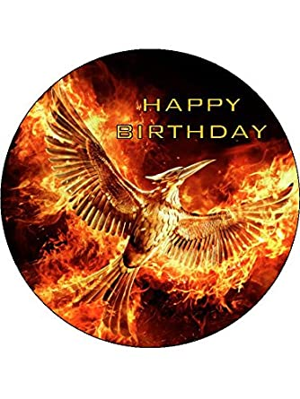 Stupendous The Hunger Games 7 5Inch Round Personalised Birthday Cake Topper Funny Birthday Cards Online Elaedamsfinfo
