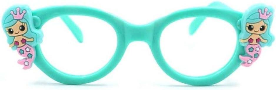 QPRER Gafas De Sol,Verde Sirena Marcos De Vidrio Chica ...