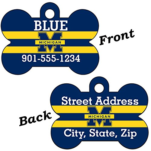 - uDesignUSA Michigan Wolverines Custom Double Sided Pet Id Dog Tag Personalized for Your Pet