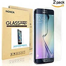 [2 PACK] Samsung Galaxy S6 Edge Plus Screen Protector, NOKEA Full Screen Coverage [9H Hardness] [Crystal Clear] [Easy Bubble-Free Installation] [Scratch Resist] Tempered Glass (for S6 Edge Plus)
