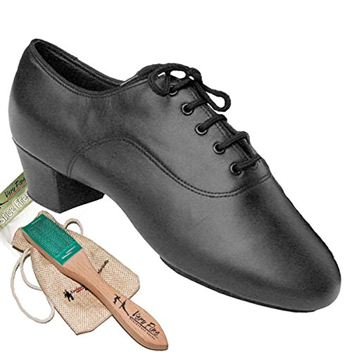 Men's Ballroom Dance Shoes Tango Wedding Salsa Latin Dance Shoes Black Leather S417EB Comfortable - Very Fine 1.5'' Heel 11 M US [Bundle of 5] by Very Fine Dance Shoes