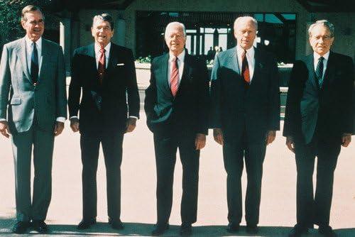El presidente de los Estados Unidos Ronald Reagan George Bush ...