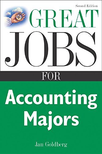 Great Jobs for Accounting Majors, Second edition (Great Jobs Fora| Series) by Jan Goldberg (2005-04-11)