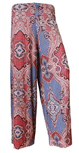 Cachemire Régulières 8 Uk Brezza Et Femme F4u Taille Plus Palazzo ® Jambe Pantalon Pour Neuf Imprimé Large 4qqPYHwZa