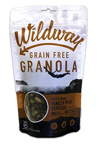 Wildway Vegan Granola | Vanilla Bean Espresso Granola | Certified Gluten Free Granola Breakfast Cereal, Low Carb Snack | Paleo, Grain Free, Non GMO, No Added Sugar | 8oz