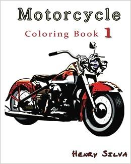 Amazon.com: Motorcycle : Coloring Book 1: design coloring book ...