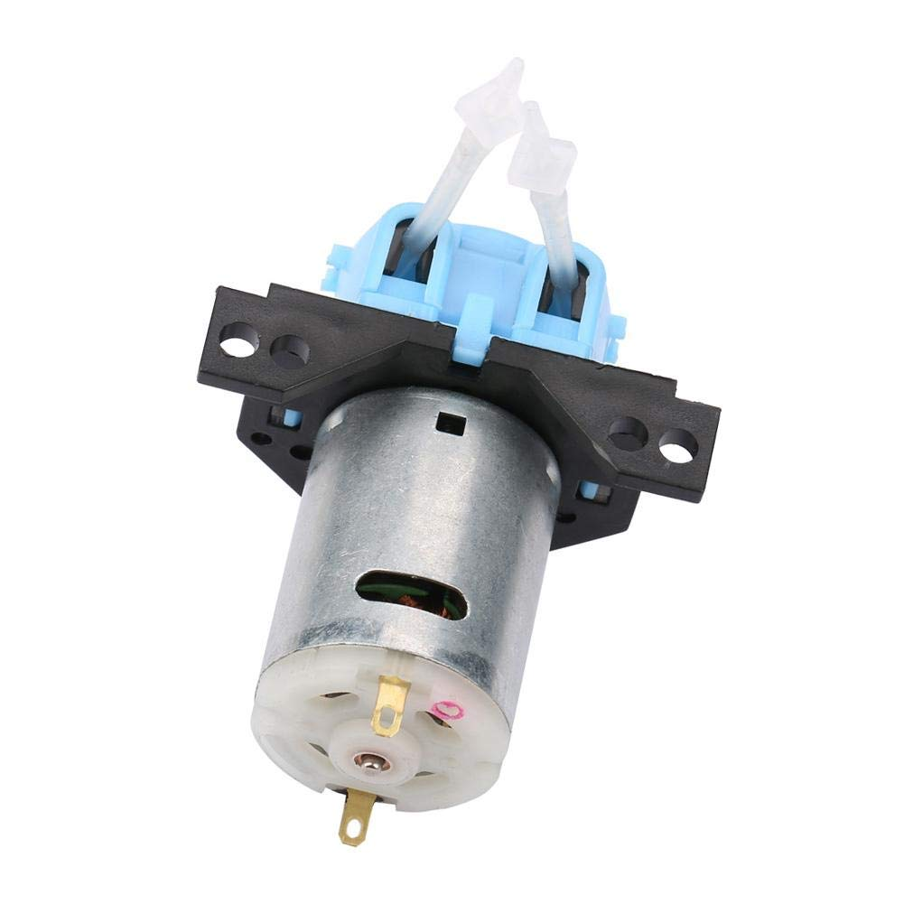 Black 24v 1 * 3 Hyuduo 12V//24V DC Dosing Pump Self Priming Peristaltic Head Adjustable Flow Direction with Connector For Aquarium Lab Chemical Analysis