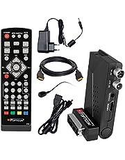 HB DIGITAL DVB-T/T2 Set: Opticum HD AX Lion Air 2 HEVC DVB-T/T2 receiver + HDMI-kabel met vergulde aansluitingen *** Full HD, HEVC/H.265, HDTV, HDMI, SCART, USB 2.0 DVBT DVBT2 DVB-T2