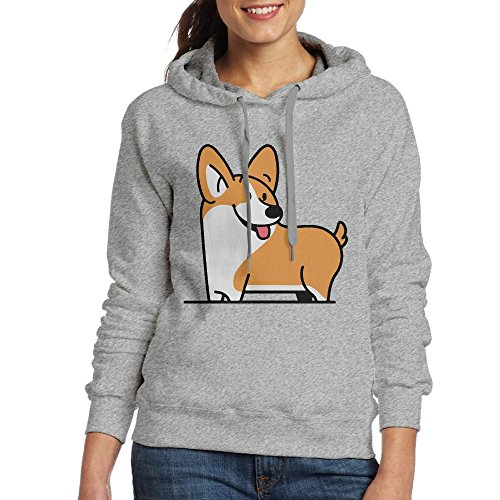 Look At Me Corgi Women Loose Hoodie (Corgi Tile)