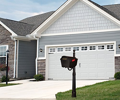 Town Square Curbside Mailbox and Ashland Mailbox Post Unit Color: Black by Special Lite Products