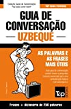 capa de Guia de Conversacao Portugues-Uzbeque E Mini Dicionario 250 Palavras