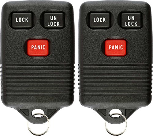 1997 Ford Club Wagon (KeylessOption Keyless Entry Remote Control Car Key Fob Replacement for GQ43VT4T (Pack of 2))