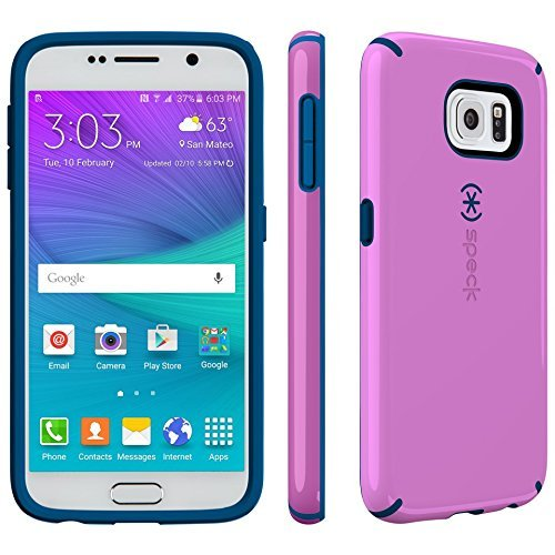- Speck CandyShell Series Hardshell Case for Samsung Galaxy S6 - Purple /Dark Blue (Certified Refurbished)