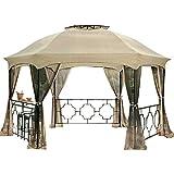 Garden Winds Replacement Canopy & Netting Set for the Dawson Hexagon Gazebo Rip Lock 350