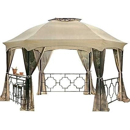 garden winds replacement canopy netting set for the dawson hexagon gazebo rip lock 350 - Garden Winds Gazebo