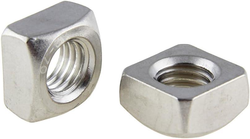 Lot de 100 écrous M5 à M16 DIN 557 carrée en acier inoxydable A2