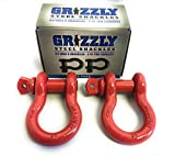 2 Pack- D Ring Shackles 3/4 INCH – Red – Heavy Duty Forged Steel with 4.75 Ton Capacity – Ideal for Jeeps, ATV's, Trucks to use with Recovery,Towing, Snatch Straps,Snatch Block,Tree Savers