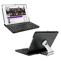 iPad Mini 4 Keyboard Case, KVAGO 360 Degree Rotating Hard Shell Case Sleeve with Bluetooth Keyboard Protective Cover for Apple iPad Mini 4th Gen -Black