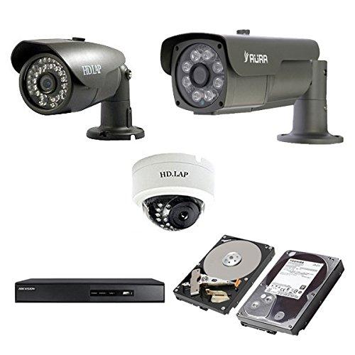 HIKVISION(ハイクビジョン) 防犯カメラ セットHD-SDI 243万画素 屋外用 赤外線 カメラ 8台 スマホ対応 3TB録画機セット 日本語マニュアル付き 屋内ドーム8台 HD-SET-CAM8-3TB 正規品日本国内発送 B075B3PY7P