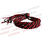 BLACK & RED DUO MUAY THAI KICKBOXING RING FIGHTERS TRADITIONAL PRAJIOUD PRAJEAT ARM BANDS