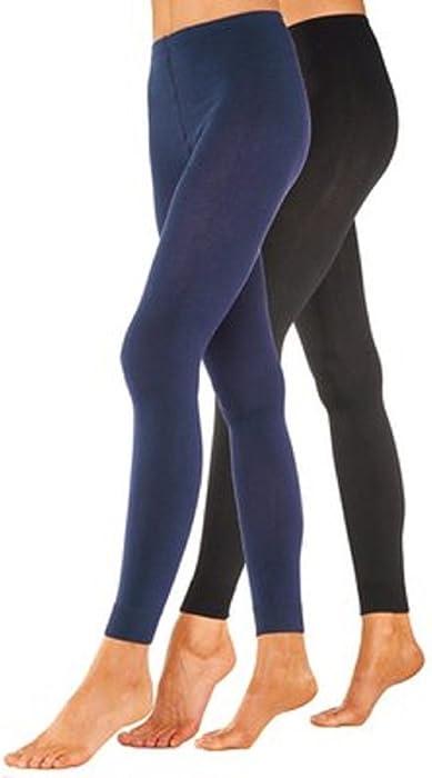 elle lui Leggings Thermique Chaud Pantalon Collant Panty Bleu Marine  Polaire Hiver Ski XXL Femme 3690216ae46