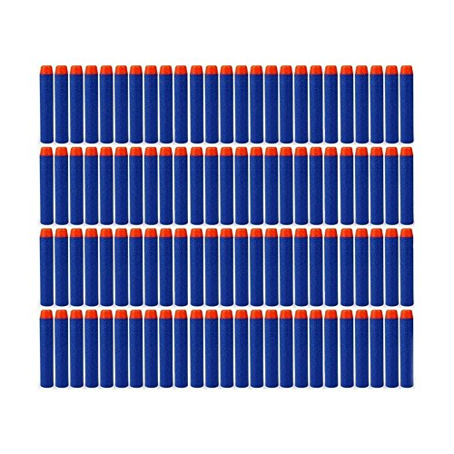 Peicees 200pcs Dark Blue 7.2*1.2 cm EVA Foam Refill Bullet Darts for Nerf N-strike Elite Series Kids Toy Gun Play Game (Plastic Guns With Bullet compare prices)