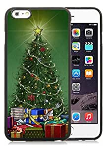 Provide Personalized Customized iPhone 6 Plus Case,Christmas tree Black iPhone 6 Plus 5.5 TPU Case 32
