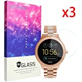 for Fossil Q Venture Screen Protector, Lamshaw 9H Tempered Glass Screen Protector for Fossil Q Venture Smartwatch (3 Pack)