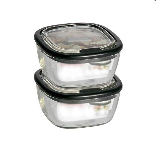 LINGLING Envases for el trabajo for llevar comida cristal Prep ...
