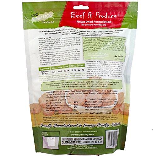 OC Raw Freeze Dried Beef & Produce Sliders 14oz hot sale