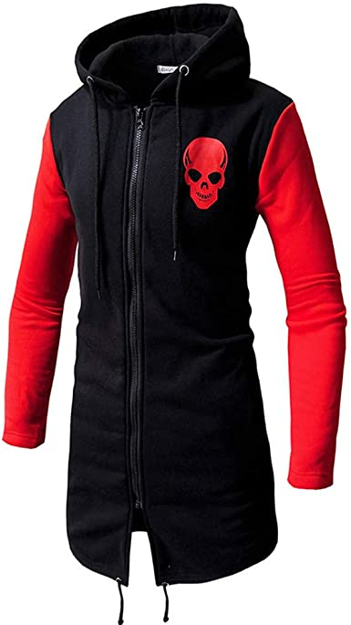 Mens Trench Coat Clearance.Mens Casual Patchwork Slim Fit Hoodie Outwear Blouse Sweatshirt