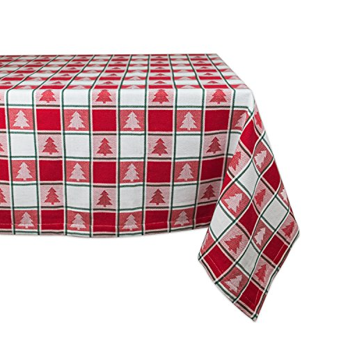 DII Machine Washable Christmas Tablecloth