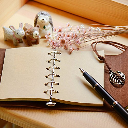 Leather Journal Writing Notebook - Leather Bound Daily Notepad for Men & Women Unlined Paper Medium 7 x 5 inches, Best Gift for Art Sketchbook, Travel Diary & Notebooks to Write in Photo #7