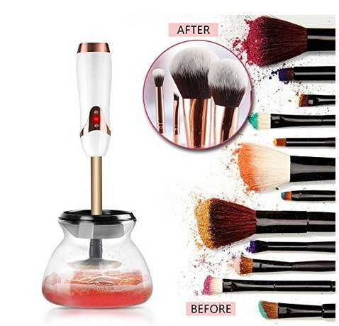 USB rechargeable makeup brush cleaner & dryer, cleans & dries in seconds, eliminates bacteria, 3 speeds, premium quality MDK Healthy Living