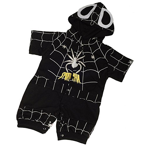 Dressy Daisy Baby Boys' Black Spiderman Hero Superhero Fancy Party Costume Outfit Size 3-6 (Black Spiderman Toddler Costumes)