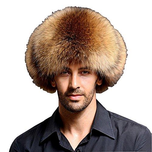 Fur Top Hat - XIANIWTA Men's Aviator Bomber Hat Faux Fur Leather Top Style Cap (Camel)
