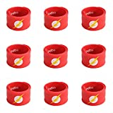 Ecparty Superhero Slap Bracelet for Kids Boys & Girls Birthday Party Supplies Favors (9 pack) (Flash-Man)