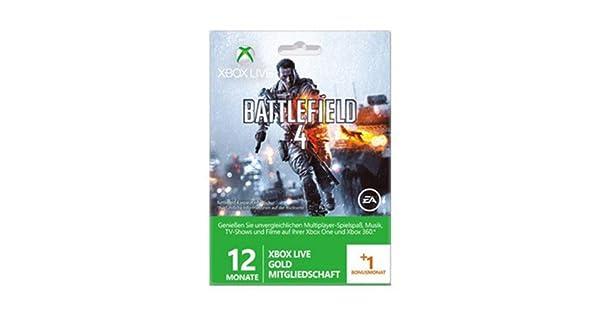 Microsoft Xbox 360 LIVE Gold + 1 Mes de Battlefield 4 ...