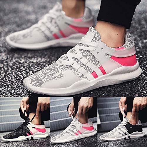 GongzhuMM Trainers Femme Gris Colorblock 5 Baskets Sneakers Chaussures Sport Maille Chaussures de Course Homme 42 Gris EU de Rose Blanc de 39 Unisexe zXzrawq